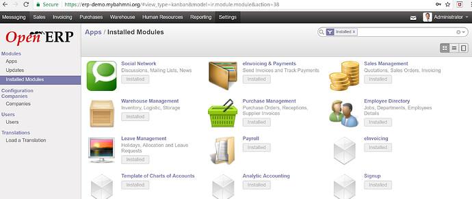 Bhamni erp_demo screenshot_settings