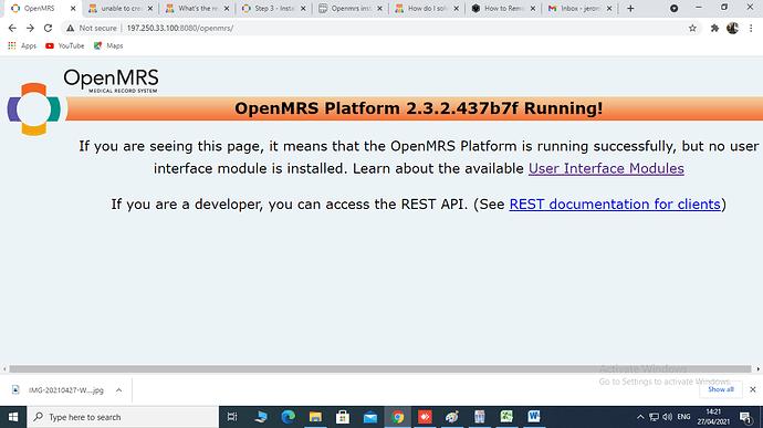 user interface error