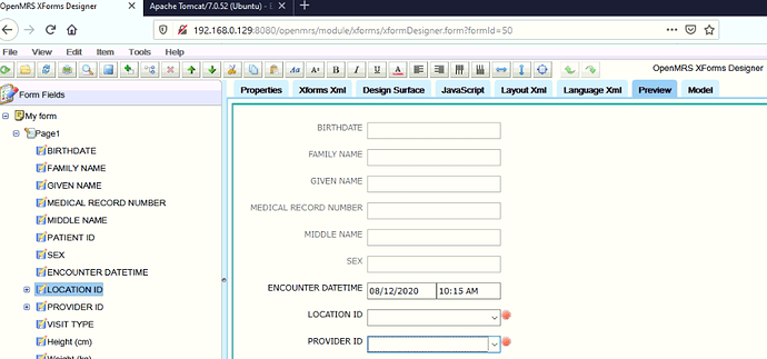 Xforms providers selection 2