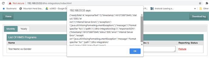 dhis-integration-error-msg