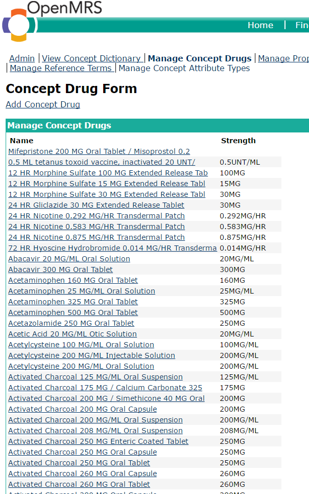 Options for OpenMRS drug management - Development - OpenMRS Talk