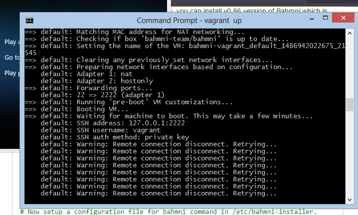 error in bahmni installation using vagrant and virtualbox - Bahmni