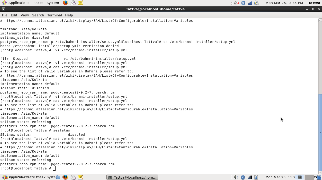 check setup yml show multiple configre selinux and timezome how to