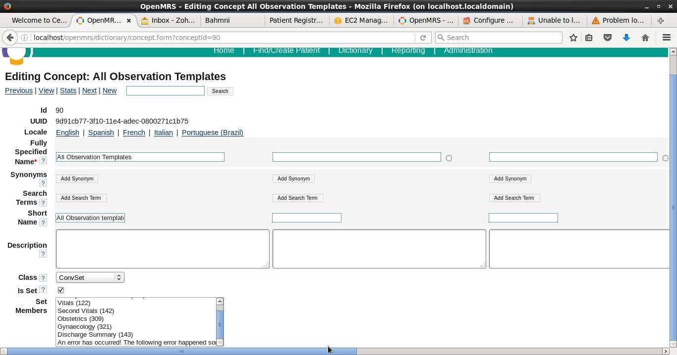 Unable to View Concept All Observation Templates in OpenMRS ...