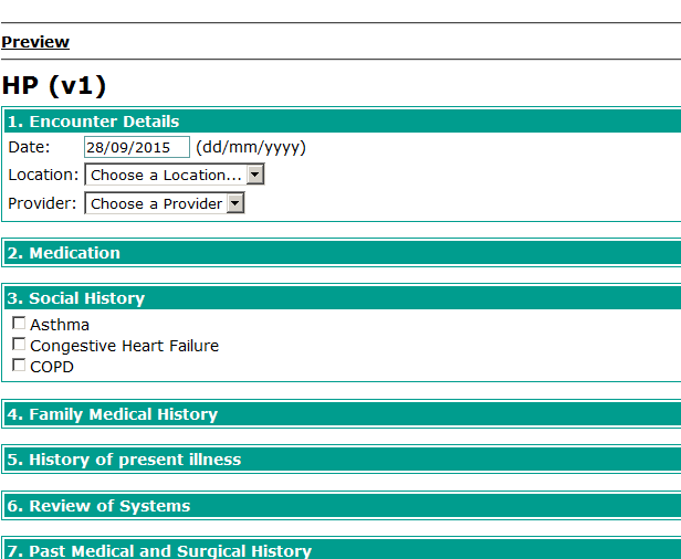 Why does an HTML form look different in the patient dashboard ...
