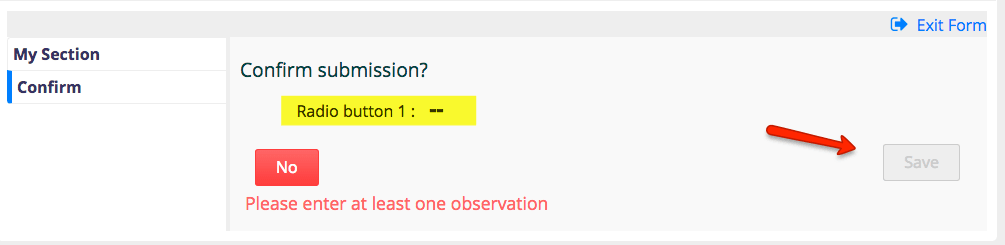 Why isn't a simple radio button submitting with HTML Form