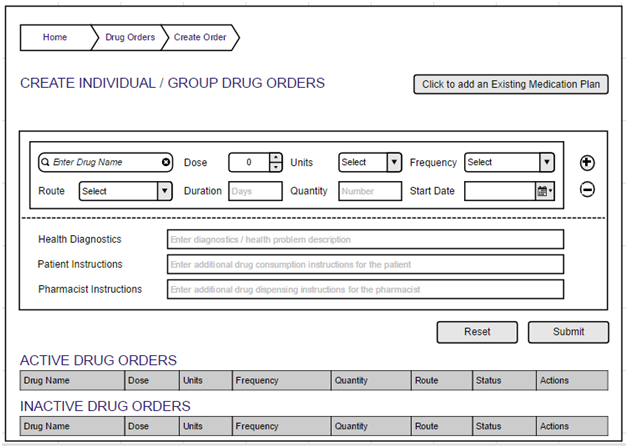 UI design feedback for Drug Order Entry & Order Sets ...